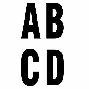 Keyline Style Black Flock Letters