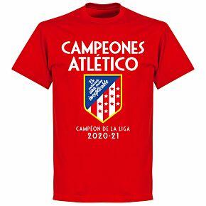 Atletico La Liga Winners 20-21 T-shirt - Red
