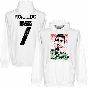 Ronaldo No.7 Graphic Hoodie - White