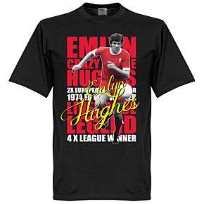 Emlyn Hughes Legend Tee - Black