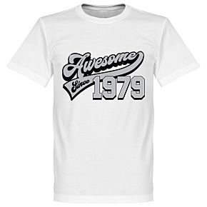 Awesome Since 1979 Tee - White