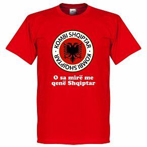 Albania Crest Slogan Tee - Red