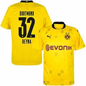 20-21 Borussia Dortmund Cup Shirt + Reyna 32 (Official Printing)