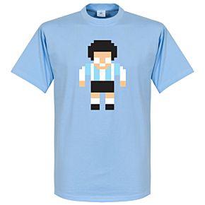 Maradona Legend Pixel Player Tee - Sky