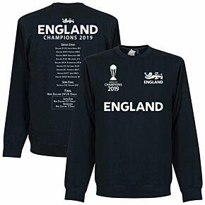 England Cricket World Cup  Winners Road to Victory  Sweatshirt - Navy