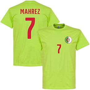 Algeria Mahrez Crest Tee - Apple Green