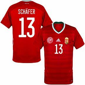 20-21 Hungary Home Shirt + Schäfer 13 (Official Printing)