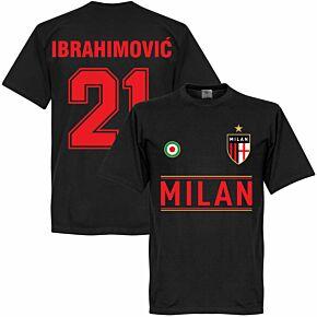 Milan Ibrahimovic 21 Team T-Shirt - Black