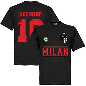 Milan Seedorf 10 Team Tee - Black