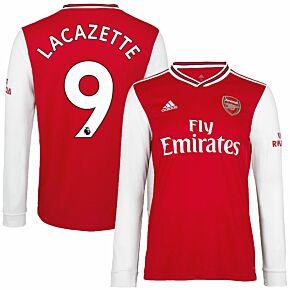 adidas Arsenal Home L/S Lacazette 9 Jersey 2019-2020 (Official Premier League Printing)