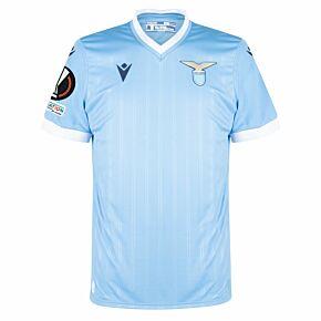 21-22 Lazio Home Match Shirt + Europa League Patches
