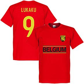Belgium Lukaku Team Tee - Red