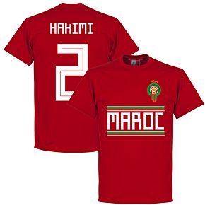 Morocco Hakimi Team T-Shirt - Red