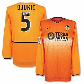 Nike Valencia Away Player Issue L/S S Jersey + Djukic No. 5 - NEW Condition