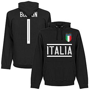 Italy Buffon 1 Team Hoodie -  Black