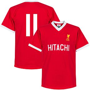 1978 Liverpool Home Retro Shirt + No. 11 (Retro Style Printing)