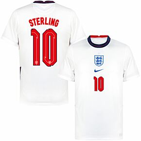 20-21 England Home Shirt + Sterling 10 (Official Printing)