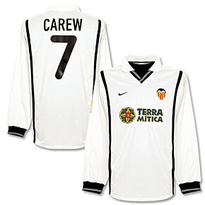 Nike Valencia 2000-2001 Home L/S Jersey - Carew 7 - NEW Player Issue - Size XL