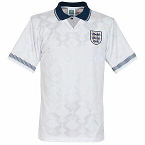 1990 England Home Retro World Cup Finals Shirt