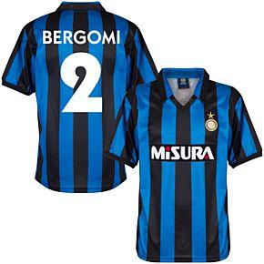 1990 Inter Milan Home Retro Shirt + Bergomi 2 (Retro Flock Printing)