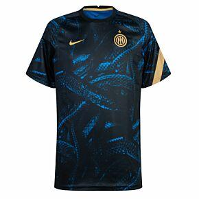 21-22 Inter Milan Pre-Match Top - Blue