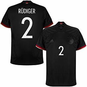 2021 Germany Away Shirt + Rüdiger 2 (Official Printing)