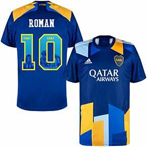 20-21 Boca Juniors 3rd Shirt + Roman 10 (Gallery Style Printing)