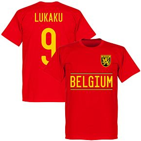 Belgium Lukaku 9 2020 Team T-Shirt - Red