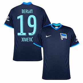 21-22 BSC Hertha Berlin Away Shirt + Jovetić 19 (Official Printing)