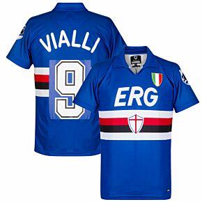 Copa Sampdoria Home Retro Shirt 1991-1992 + Vialli 9