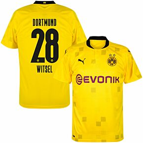 20-21 Borussia Dortmund Cup Shirt + Witsel 28 (Official Printing)