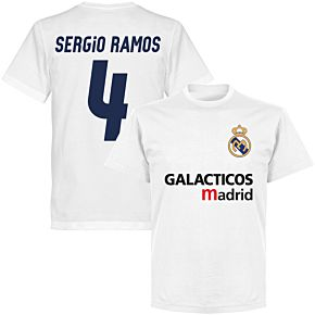 Galácticos Madrid Sergio Ramos 4 Team T-shirt - White