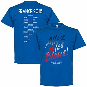 France Allez les Bleus Russia 2018 Road to Victory Tee - Royal