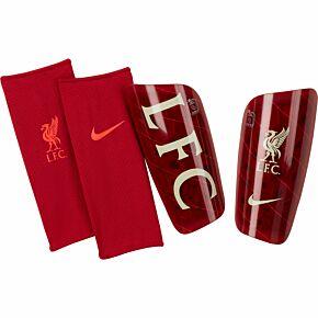 21-22 Liverpool Mercurial Lite Shinpads - Red