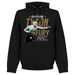 Tyson Fury Heavyweight Champion Picture Hoodie - Black