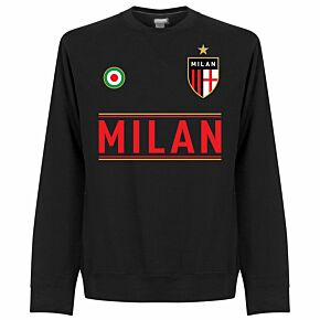 AC Milan Team  Sweatshirt - Black