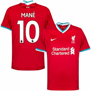 20-21 Liverpool Home Shirt + Mane 10