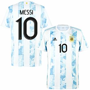 2021 Argentina Home KIDS Shirt + Messi 10 (Official Printing)