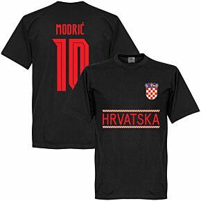Croatia Modric 10 Team T-shirt - Black