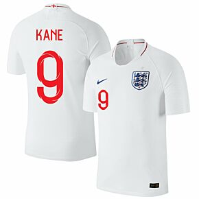 England Home Kane 9 Jersey 2018 / 2019 (Fan Style Printing)