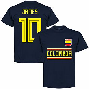 Colombia James 10 Team Tee - Navy