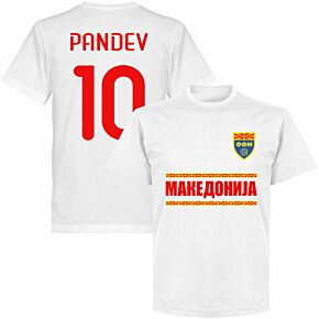 Macedonia Pandev 10 Team T-shirt - White