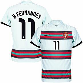 20-21 Portugal Vapor Match Away Shirt + B.Fernandes 11 (Official Printing)