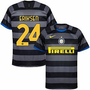 20-21 Inter Milan 3rd Shirt + Eriksen 24 (Official Printing)