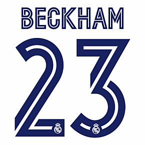 Beckham 23 (Official Printing) - 20-21 Real Madrid Home