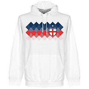 England 2018 Pattern KIDS Hoodie - White