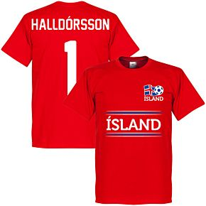 Iceland Halldorsson 1 Team Tee - Red
