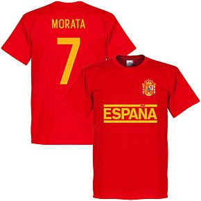Spain Morata Team Tee - Red
