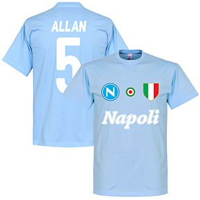 Napoli Allan 5 Team Tee - Sky