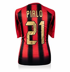 Andrea Pirlo Back Signed AC Milan 04-05 Home Shirt